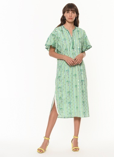 Twist Elbise Yeşil